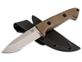 "Benchmade 162-1 Bushcrafter Fixed Blade Knife 4.43"" Drop Point S30V Stainless Steel Blade G10 Handle Sand"
