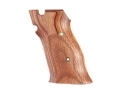 Hogue Fancy Hardwood Grips S&amp;W 41 Checkered Rosewood Laminate