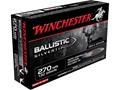 Winchester Supreme Ammunition 270 Winchester 130 Grain Ballistic Silvertip