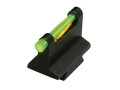 Product detail of HIVIZ Muzzleloader &amp; Rifle Front Sight .500&quot; Height .375&quot; Dovetail Steel Fiber Optic with 6 Interchangeable Lite Pipes