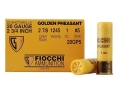 "Fiocchi Golden Pheasant Ammunition 20 Gauge 2-3/4"" 1 oz #5 Nickel Plated Shot Box of 25"