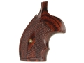 Smith & Wesson Factory Grips with Finger Grooves S&W K, L-Frame Round Butt Checkered Rosewood