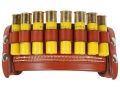 Product detail of Van Horn Leather Belt Slide Shotshell Ammunition Carrier 8-Round 20 Gauge Leather Chestnut