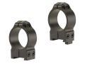 Warne 30mm Permanent-Attachable Ring Mounts CZ 550, BRNO 602 (19mm Dovetail) Matte Medium