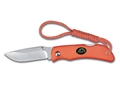 "Outdoor Edge Mini-Blaze Folding Hunting Knife 2.2"" Drop Point 8Cr13MoV Stainless Steel Blade Kraton Handle Orange"
