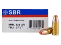 SBR LaserMatch Tracer Ammunition 9mm Luger 124 Grain Full Metal Jacket SRVT Box of 20