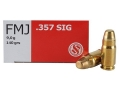 Sellier &amp; Bellot Ammunition 357 Sig 140 Grain Full Metal Jacket Box of 50