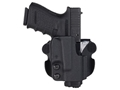 Product detail of Comp-Tac Paddle Holster Straight Drop Right Hand S&W M&P Pro 9mm Luger, 40 S&W Kydex Black