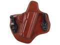Bianchi Allusion Series 135 Suppression Tuckable Inside the Waistband Holster Right Hand 1911 Leather Tan