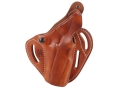 El Paso Saddlery Dual Duty 3 Slot Outside the Waistband Holster Right Hand 1911 Government Leather Russet Brown