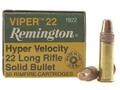 Remington Viper Hyper Velocity Ammunition 22 Long Rifle 36 Grain Plated Truncated Cone Box of 500 (10 Boxes of 50)