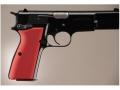 Hogue Extreme Series Grip Browning Hi-Power Aluminum Matte Red
