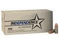 Independence Ammunition 9mm Luger 115 Grain Full Metal Jacket