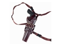 "Galco Kodiak Shoulder Holster System Right Hand S&W X-Frame 460, 500 Taurus Raging Bull 8.375"" Barrel Leather Brown"