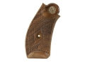 Smith &amp; Wesson Factory Grips S&amp;W N-Frame Round Butt Old-Style Checkered Walnut