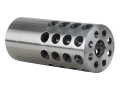 "Vais Muzzle Brake Varmint 284 Caliber, 7mm 5/8""-32 Thread .875"" Outside Diameter x 2"" Length Chrome Moly in the White"