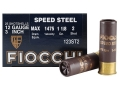Fiocchi Speed Steel Ammunition 12 Gauge 3&quot; 1-1/8 oz #2 Non-Toxic Steel Shot Case of 250 (10 Boxes of 25)