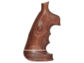 Hogue Fancy Hardwood Conversion Grips with Accent Stripe, Finger Grooves and Contrasting Butt Cap S&W N-Frame Round to Square Butt Oversize Pau Ferro