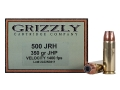 Product detail of Grizzly Ammunition 500 JRH 350 Grain Hawk Bonded Core Jacketed Hollow Point Box of 20
