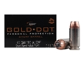 Product detail of Speer Gold Dot Short Barrel Ammunition 40 S&W 180 Grain Jacketed Hollow Point Box of 20