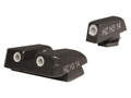 HIVIZ NITESIGHT Low Profile Sight Set Glock 20, 21, 29, 30 Steel Blue 3-Dot Tritium Green