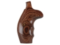 Smith & Wesson Factory Grips with Finger Grooves S&W N-Frame Round Butt Walnut