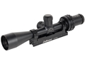 Leatherwood Hi-Lux Camputer ART M-1000 Tactical Rifle Scope 2.5-10x 44mm No Math Mil-Dot Reticle with Weaver-Style Base and Rings Matte Blemished