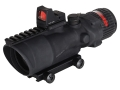 Trijicon ACOG TA648-RMR BAC Rifle Scope 6x 48mm Dual-Illuminated Red Chevron Reticle with 6.5 MOA RMR Red Dot Sight and TA75 Flattop Mount Matte