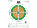 Champion Score Keeper 100 Yard Small Bore Target 14&quot; x 18&quot; Paper Fluorescent Orange/Green Bull Package of 12