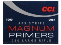 CCI Large Rifle APS Magnum Primers Strip #250 Case of 5000 (5 Boxes of 1000)