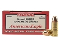 Product detail of Federal American Eagle Ammunition 9mm Luger 147 Grain Total Metal Jacket Box of 50