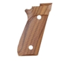 Product detail of Hogue Fancy Hardwood Grips Taurus PT99 with Frame Mounted Safety Checkered Pau Ferro