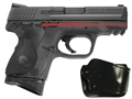 Crimson Trace Lasergrips Smith & Wesson M&P Compact Polymer Black with Gould Holster