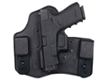 DeSantis Intruder Inside the Waistband Holster Left Hand Springfield XDM 4.5&quot; with Crimson Trace CRM201 Kydex and Leather Black