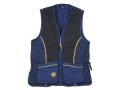 Beretta Silver Pigeon Shooting Vest Ambidextrous Cotton and Polyester Blend Blue Large