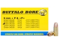 Product detail of Buffalo Bore Ammunition 9mm Luger +P+ 147 Grain Jacketed Hollow Point Box of 20