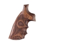 Hogue Fancy Hardwood Grips with Finger Grooves Ruger GP100, Super Redhawk Checkered Rosewood Laminate