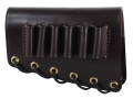 Galco Rifle Cheek Rest Left Hand with 45-70 Government Caliber Rifle Ammunition Carrier 5-Round Leather Dark Havana