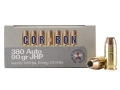 Product detail of Cor-Bon Self-Defense Ammunition 380 ACP 90 Grain Jacketed Hollow Point Box of 20