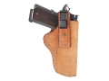 Ross Leather Tuck Inside the Waistband Holster Right Hand Small Frame Revolver Leather Tan