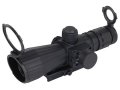 NcStar Mark 3 Tactical Rifle Scope 3-9x 42mm Blue Illuminated Rangefinder Reticle Matte with Red Laser and Quick Release Weaver-Style Base Rubber Armored Matte