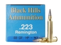 Product detail of Black Hills Remanufactured Ammunition 223 Remington 68 Grain Match Hollow Point Moly Box of 50
