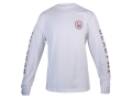 "Beretta Double Logo Shirt Long Sleeve Cotton White Large (42"" to 44"")"