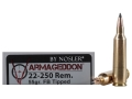 Product detail of Nosler Varmageddon Ammunition 22-250 Remington 55 Grain Tipped Flat Base Box of 20