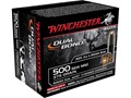 Winchester Supreme Elite Dual Bond Ammunition 500 S&amp;W Magnum 375 Grain Jacketed Hollow Point Box of 20