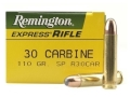 Product detail of Remington Express Ammunition 30 Carbine 110 Grain Soft Point Box of 50