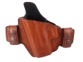 Bianchi Consent Outside the Waistband Holster Left Hand Glock 26, 27, 33 Leather Tan