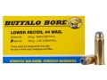 Buffalo Bore Ammunition 44 Remington Magnum 240 Grain Jacketed Hollow Point Low Recoil Box of 20