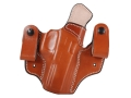 DeSantis Mad Max Tuckable Inside the Waistband Holster Right Hand Glock 17, 19, 22, 23, 31 Leather Tan