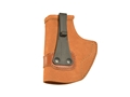 Galco Tuck-N-Go Inside the Waistband Holster Left Hand Glock 42, Kahr MK9, MK40 Leather Brown
